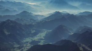 Prise de vue aérienne drone paysage